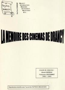 """couverture de """"Mémoire des cinémas de Drancy"""""""