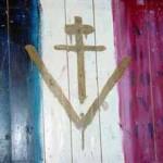 le v de la victoire et croix de Lorraine